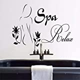 34X59Cm Niñas Salón De Belleza Calcomanía De Pared Moderno Spa Relax Vinilo Pegatinas De Pared Cosmética Baño Interior Mujer Patrón