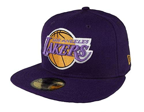 New Era - Casquette Fitted Homme Los Angeles Lakers 59Fifty Basic Collection - Purple - Taille 7 1/4