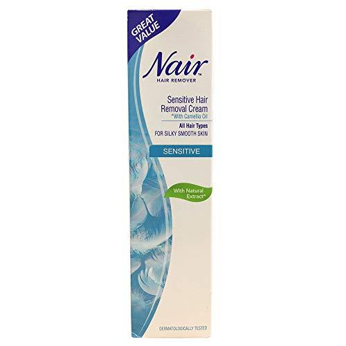 Crème dépilatoire Nair Sensitive à l'huile de camélia 80ml - Tous types de cheveux - Choisissez la quantité (Lot de 1)