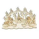 SUPVOX 3 Sets Adornos navideños de Madera DIY belenes para cenas Mesa de Centro de Mesa