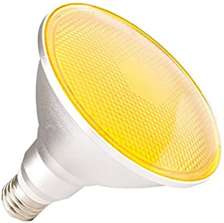 LEDKIA LIGHTING Bombilla LED E27 Casquillo Gordo PAR38 15W Waterproof IP65 Luz Amarilla Amarillo