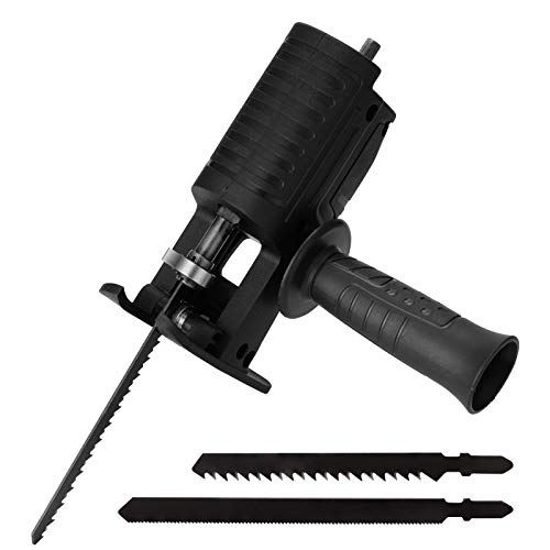 Reciprocating Saws Attachment Electric Drill Modified Electric Saws Converter Portable Woodworking Cutting Tool, Household Saber Saws Power Drill to Jig Saws