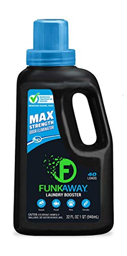 FunkAway Laundry Detergent Booster, 32 oz | Max Strength Odor Eliminator | Stain Remover | 40 Loads | HE