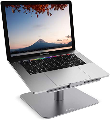 [Amazonブランド]Eono(イオーノ)-ノートパソコンスタンド,ノートPC台:PC置き台,回転式,アルミ合金製,熱対策,冷却台,安定性抜群,エルゴノミクス机上台,人間工学,猫背・肩こり改善,aluminium,11~17インチのパソコンに対応,アップルマックブックエアプロ,AppleMacBookAirPro111315,Microso