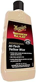 Meguiar'S Hi- Tech Yellow Wax (No. 26) Mirror Glaze 16 Fl. Oz. Yellow