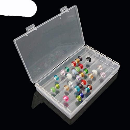 Personalizzato Fascino Perline Titolare Bracciale Gioielli Display Scatola di Immagazzinaggio Perline Mostra Caso Organizzatore con Cover-Box Trasparente L