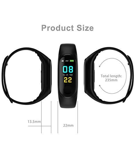 TIAS Pulsera inteligente M3, monitor de actividad física, monitor de presión arterial, frecuencia cardíaca, contador de… 8