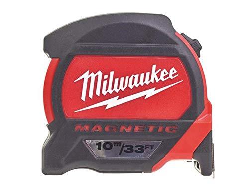Milwaukee 48227233 48227233-Cinta métrica magnética (10 m, 27 mm), rosso