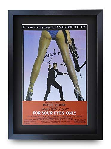 HWC Trading 007 - Stampa autografata di James Bond 007 con Cornice o Senza Cornice, Solo per i Tuoi Occhi, A3