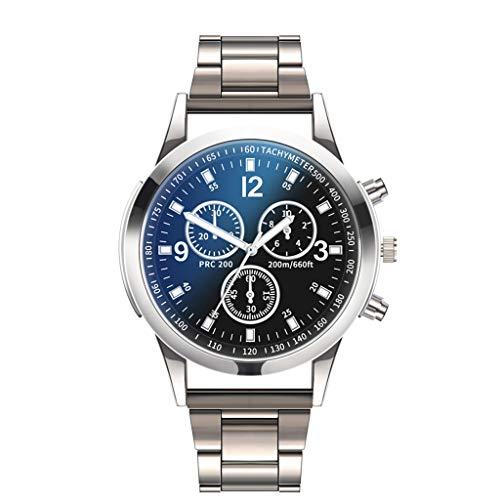 Bokeley Luxury Men's Wrist Watch - Stainless Steel Band - 40mm Chronograph Watch - Japanese Quartz Movement (B)
