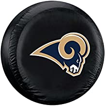 Fremont Die NFL Los Angeles Rams No Tyre Coverlarge Tyre Cover, Black, Large