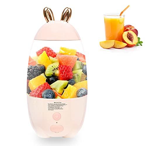 Multifunktion Mini Standmixer Smoothie Maker Usb, Tragbar Mixer Obst, Glas Juicer Blender, Smoothie Maschine Elektrisch Sehr Gut Geeignet für Früchte und Gemüse Aller Art.