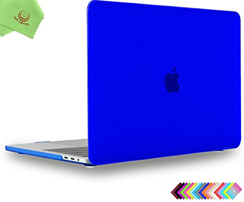 UESWILL MacBook Pro 15 inch Case 2019 2018 2017 2016, Smooth Matte Hard Case for MacBook Pro 15 inch with Touch Bar/USB-C (Model: A1990/ A1707) + Microfibre Cleaning Cloth, Royal Blue