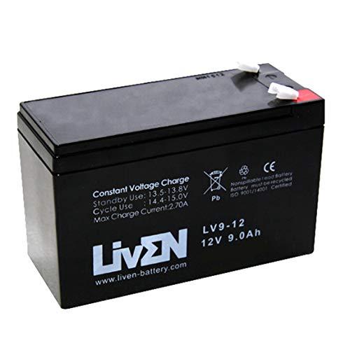 Batería AGM 12V 9Ah C-20 Sin Mantenimiento - Equipos Seguridad/Médicos/SAI/Comunicación/Emergencia   LIVEN LV9-12