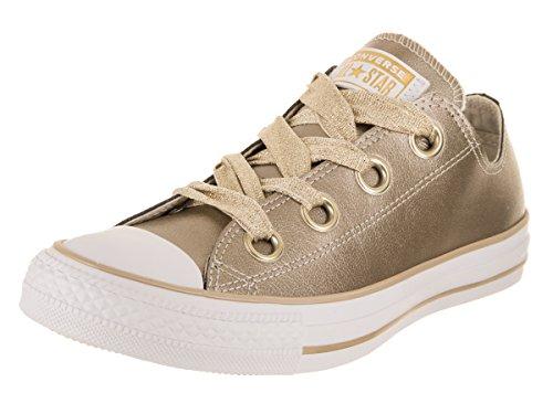 Converse Chuck Taylor CTAS Big Eyelets Ox, Zapatillas para Mujer, (Metallic Gold/White 752), 37 EU