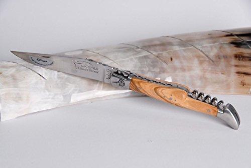 Laguiole Honore Durand 14C28 - Sacacorchos de madera de olivo y mandril