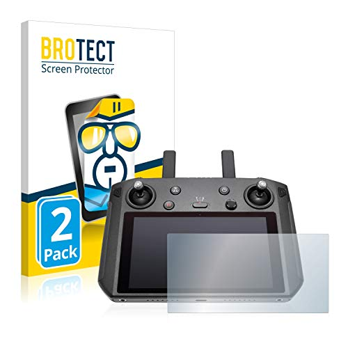 BROTECT Schutzfolie kompatibel mit DJI Smart Controller (2 Stück) klare Displayschutz-Folie