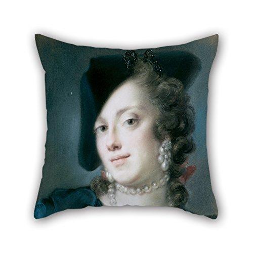 Fundas de cojín de 45,72 x 45,72 cm / 45,72 x 45,72 cm (doble cara) buena elección para el amante de la fiesta de la silla de oficina sala de dibujo sofá pintura al óleo Rosalba Carriera – una mujer veneciana de la casa de Barbarigo (C