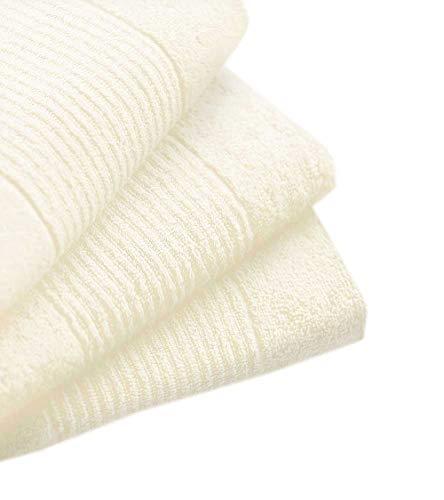 N&K Bielefelder Wäsche: Lot de 6 serviettes absorbantes 30 x 30 cm - Crème uni