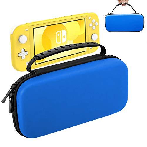 Oihxse Funda para Nintendo Switch Lite, Estuche Portátil Dura Proteger Consola Nintendo Switch, Juegos, Joy-con y Carcasa Ajustable Transporte 10 Cartuchos de Juegos (Azul)