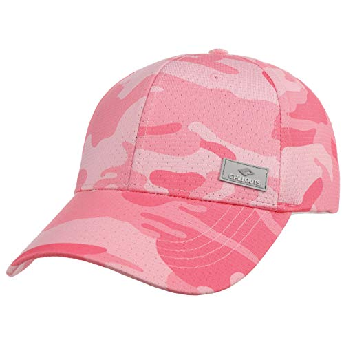 CHILLOUTS Kampala Camouflage Cap Basecap Baseballcap Curved Brim (One Size - rosa)