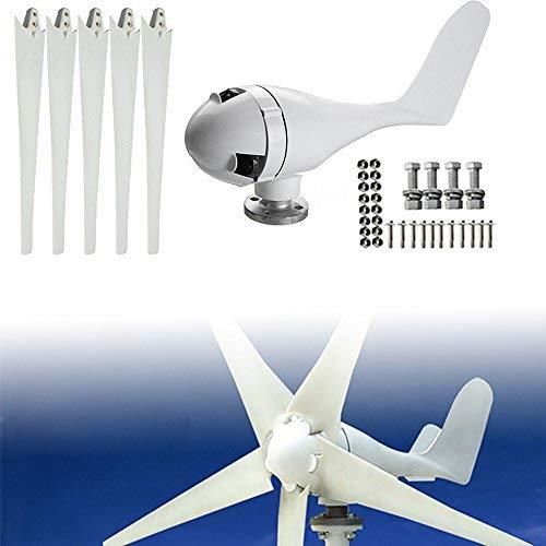 DiLiBee 5 Blade Windrad Windkraftanlage Garten Windturbine windgenerator 400W Laderegler