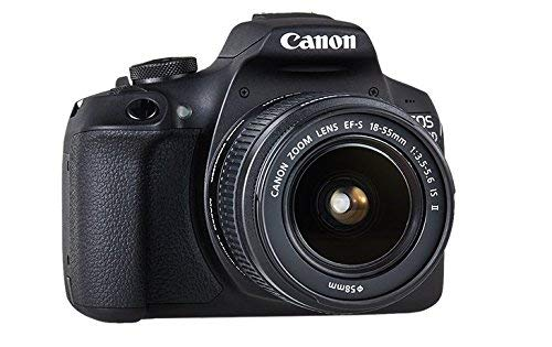 Canon EOS 2000D Spiegelreflexkamera - mit Objektiv EF-S 18-55 IS II (24,1 MP, DIGIC 4+, 7,5 cm (3.0 Zoll) LCD, Display, Full-HD, WIFI, APS-C CMOS-Sensor), schwarz
