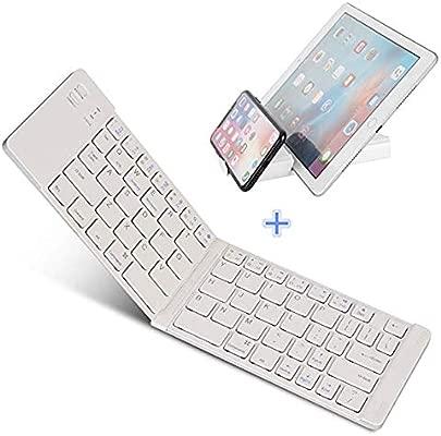 LOMQIT Faltbare Tastatur Kompatibel f r iPhones iPads Android-Ger te und Windows Tragbare Bluetooth-Tastatur in Originalgr e 11 5 Zoll mit Tasche und St nder Schätzpreis : 35,02 €