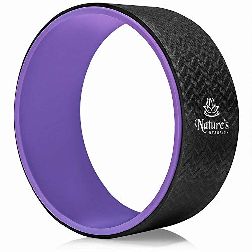 Nature's Integrity Yoga Wheel 13' [Elite Series] - for Stretching, Back Pain, Improving...