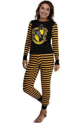 Harry Potter Hufflepuff House Crest Tight Fit Adult Cotton Women's Pajama XL
