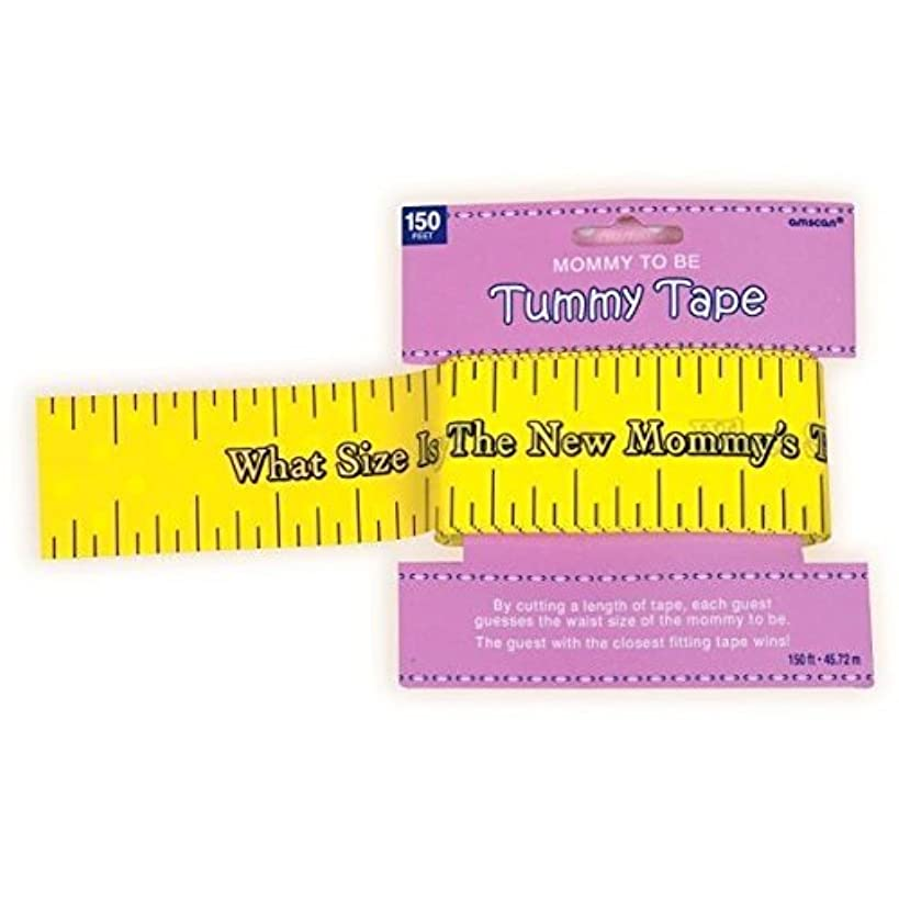 Amscan Delightful Tummy Measure Game Baby Shower Party Novelty Favors, 2in x 150ft, Yellow (2-Pack)