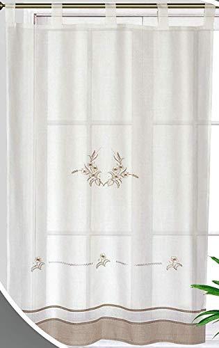Forentex Cortinas Cocina M-1044 Bordados florales decorativos para ven