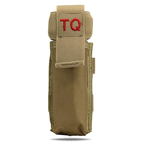 ATG Molle PALS Tourniquet Holder TQ Pull Elastic Tab (Tan)