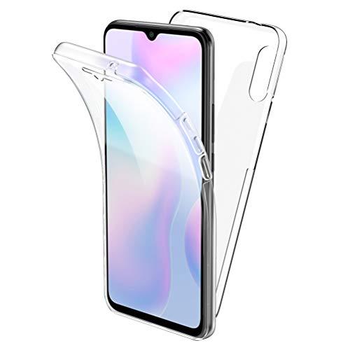 All Do Funda para Xiaomi Redmi 9A, 360 Grados Protección Diseñada, Transparente Ultrafino Silicona TPU Frente y PC Back...