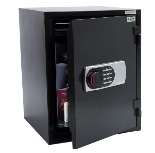 KNOXSAFE Fireknox 3 FK1603E Feuerschutztresor 60 min Feuerschutz für Papier USB-Stick DvD CD Schwarz 515 x 400x 440 mm (HxBxT)