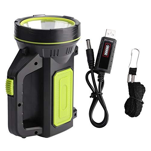 LED-Taschenlampe, USB-Taschenlampe für wiederaufladbare Campinglaternen, Taschenlampe für Arbeitsscheinwerfer, 3 Modi, 6000-mAh-Powerbank, perfekt für Camping, Wandern, Erholung im Freien, USB-Ladekab
