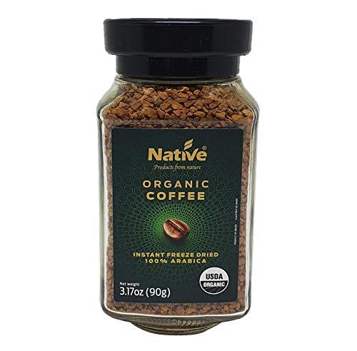 Native Organic Instant Freeze Dried Coffee, 3.17 Oz Jars