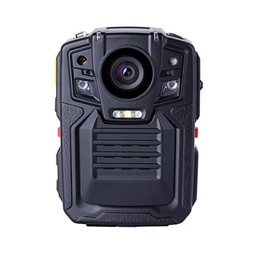 Angin-Tech Cam102 Visión Nocturna Infrarroja 1080P HD Cuerpo Policía Worn Cámara Vídeo Seguridad IR CAM Construido Tarjeta GPS Ayuda Detección Movimiento + 16GB TF (Incluye 16 GB TF Tarjeta)