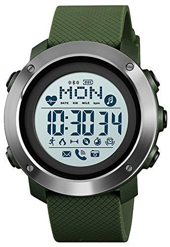 Fitness Uhr Herren Kompass Pulsmesser Bluetooth Kamera Musik Männer Fitness Armband Kalorie Wecker LED Schlafmonitor Stoppuhr Wasserdicht