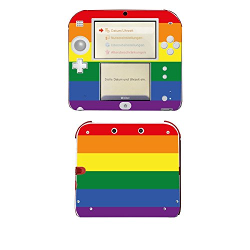 Disagu SF-105310_1222 Design Skin für Nintendo 2DS - Motiv Rainbow Pride klar