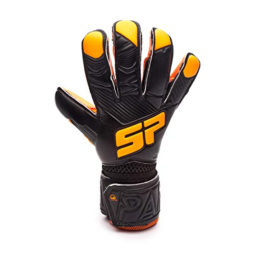 SP Fútbol Pantera Fobos Training Niño, Guante de Portero, Black-Orange, Talla 5