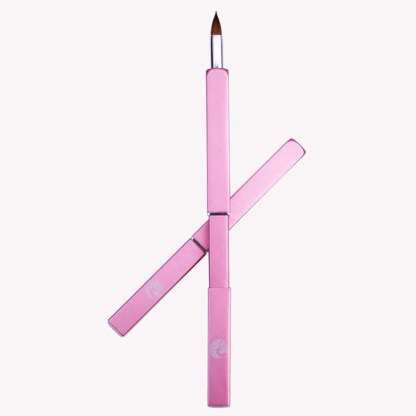 はぁ名目上のアトラスENERGY メイクブラシ リップブラシ スライド式 ポータブル(ピンク)