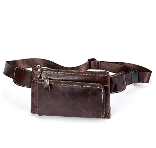 SJBB Tailletas voor heren Retro Travel mobiele telefoon tas heren zakken schoudertas met kaart tas heuptas heren portemonnee
