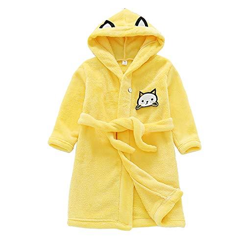 Minions Boutique Winter Baby Bademantel Kleinkind Bademaentel Laessige Kinder Pyjamas Nette Katze Maedchen Bademaentel Kinder Homewear Jungen Nachtwaesche