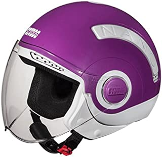 Studds Nano Helmet White/Purple (560MM)