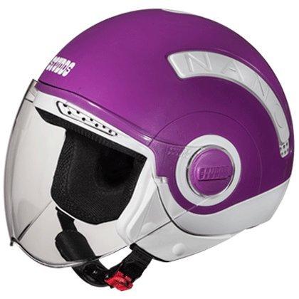 Studds Nano Helmet White/Purple (560MM)