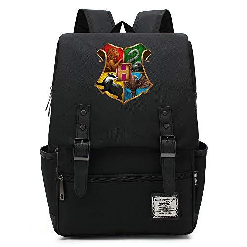 Harry P Hogwarts Daypack, Zaino scuola College per uomini donne bambini all'aperto Camping Escursioni Daypack 14 pollici 09 Premere l'immagine della scheda a colori.