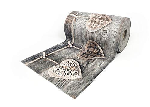 BIANCHERIAWEB Tappeto Passatoia Antiscivolo con Stampa Digitale Disegno Cuori Appesi 50x230 Cuori Appesi