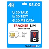 Mobile Net IoT $5 GSM Sim Card Nationwide AT&T 4G LTE for GPS Tracking Pet Senior Kid Child Car Smart Watch Devices Locators 30-Day Wireless Service