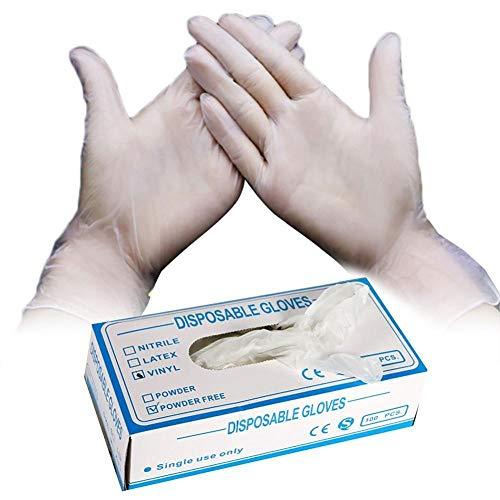 Einweghandschuhe 80Pcs/Box Hygiene Protective Einweg PVC Handschuhe Zum Kochen In Der Küche Reinigung Antivirenhandschuhe Weiß_M